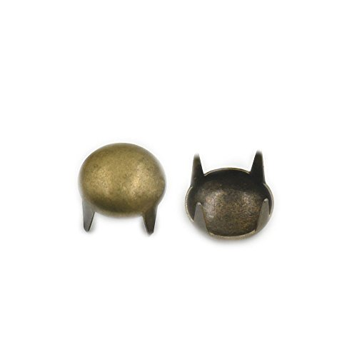 "Fujiyuan 1000pz 4mm 3/40,6cm Studs Nailheads Round Spikes macchie punk rock braccialetto bag, metallo, Bronze, 4mm 3/16"""