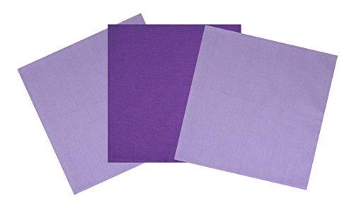 Bandana Schal Kopftuch pack 3 violette und (Hut Und Rosa Cowgirl Halstuch Set)