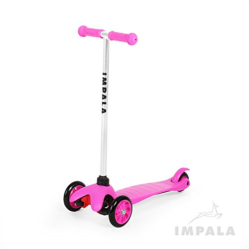 Impala Scooters Patinete Infantil con 3 Ruedas para Niños y Niñas, para Niños y Niñas con Movilidad inestable, Color Rosa, Azul, Rojo, Verde, Morado, IM1, Rosa
