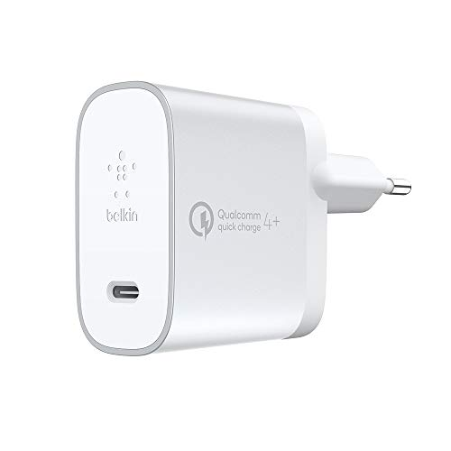 Belkin Boost Charge 27 W Quick Charge 4+-Netzladegerät (mit 1,2-m-USB-C-/USB-C-Kabel) Silver Power Kabel -