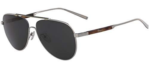 Salvatore Ferragamo Sonnenbrillen SF 174S Silver/Smoke Herrenbrillen