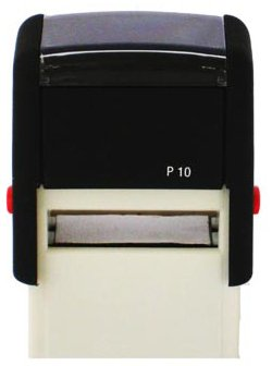 Personalised Custom Made Self Inking Rubber Stamp (up to 3 lines of Text) 27 x 10 mm