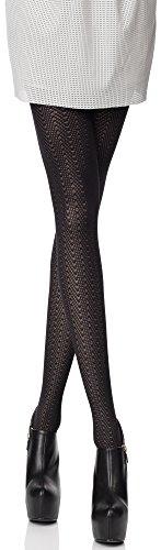Merry Style Damen Strumpfhose Gaya 40 DEN (Schwarz, M (36-40))