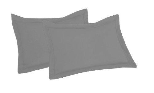 SRP biancheria di cotone egiziano euro/sicura/negli/europei (66,04 cm x 66,04 cm) super morbido 2 pezzi federe grigio tinta unita---400 conteggi del filetto