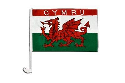 Flaggenfritze Autofahne Autoflagge Wales CYMRU - 30 x 40 cm
