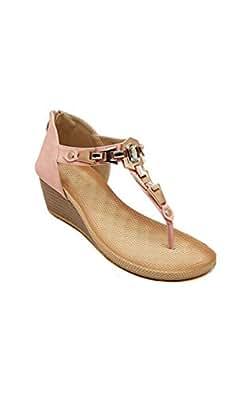 ACEVOG - Sandales de Eté Chaussons Confortable à talon plat - Chaussures de Plage - Pantoufles Shoes - Femme - 40