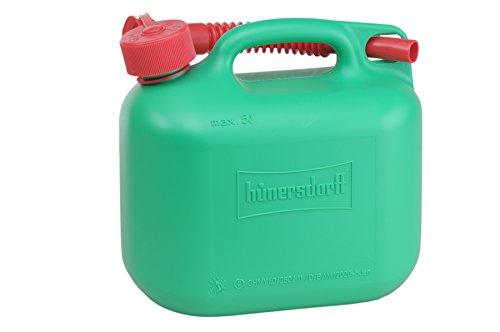 Preisvergleich Produktbild Kraftstoff-Kanister STANDARD 5l für Benzin, Diesel und andere Gefahrgüter, UN-Zulassung, made in Germany, TÜV-geprüfter Produktion, grün