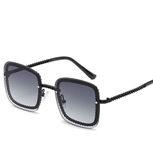 FIRM-CASE Quadrat-Sonnenbrille-Dame-Sonnenbrille-Frauen-Weinlese-Randlos Gradient-Sonnenbrillen Weiblich, 4