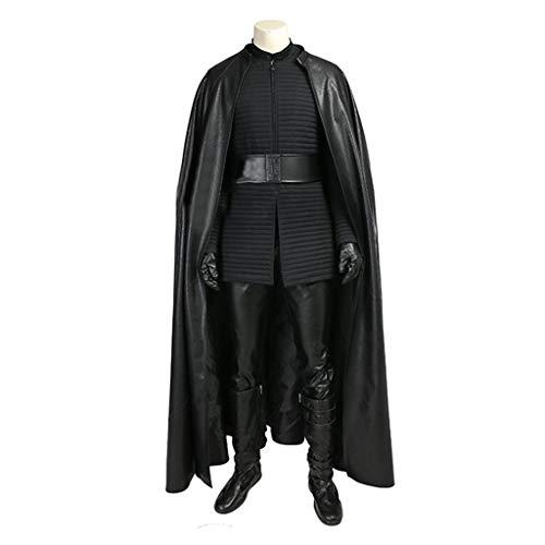 nihiug Star Wars 8 Die letzten Jedi-Ritter Star Wars Kelloh LUN Volles Cosplay-Kostüm Halloween,Black-L