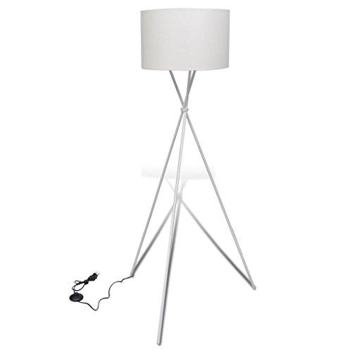 vidaXL Stehlampe Stehleuchte Lampe Wohnzimmerlampe Standleuchte Lampeschirm weiß