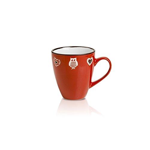 Brandani 54075 Incanto en grès Mug, Rouge
