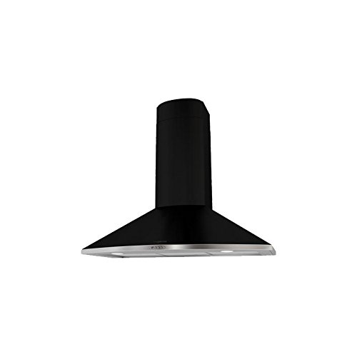 Mepamsa Tender H 70 V2 Campana aspirante de fundición, decorativa, de pared, color negro 28 W, 3 Velocidades