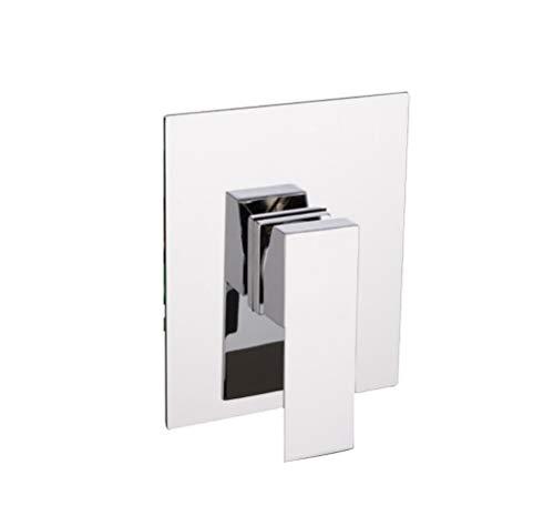 takestop® Grifo Mezclador Empotrado Ducha Rectangular esy 52968Grifo Monomando bañera Lavabo baño...