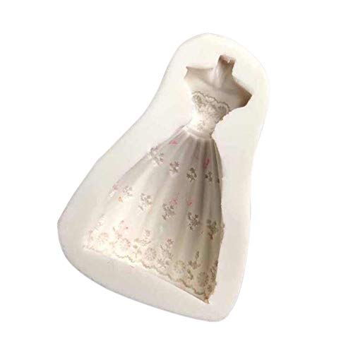 Momangel Silikonform für Hochzeit, Kleid, antihaftbeschichtet, für Süßigkeiten, Schokolade,...