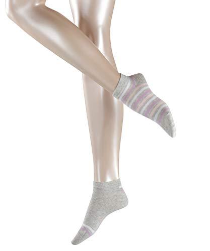 Esprit Damen Sneakersocken Multi Stripe 2er Pack 2 Paar - 70% Baumwolle - grau - Größe 39-42 - Sommersocken kurz Damensocken -