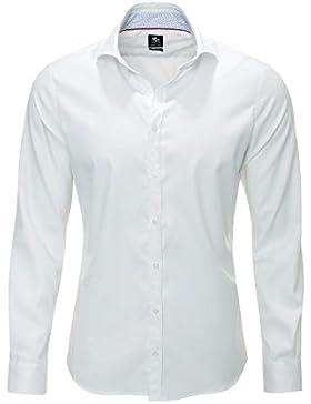 Otto Kern Herren Langarmhemd Businesshemd Unifarben