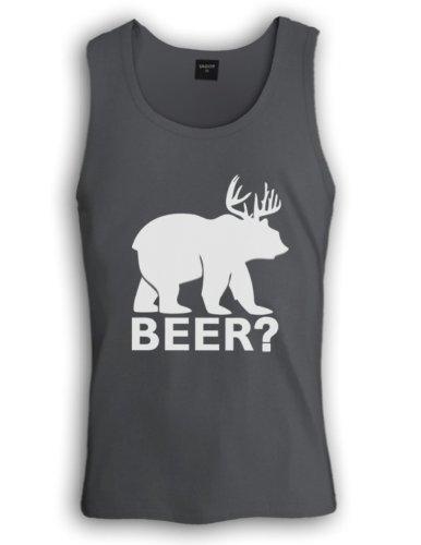 BEER deer bear Tank Top Dunkelgrau