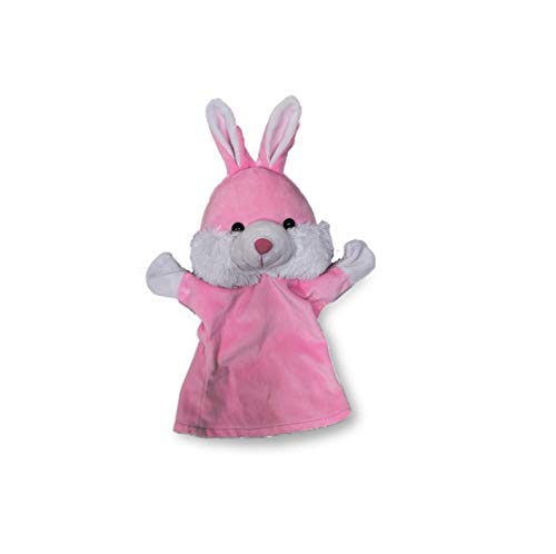 Benny & Bunny Soft Toy - Rabbit Puppet - Light Pink