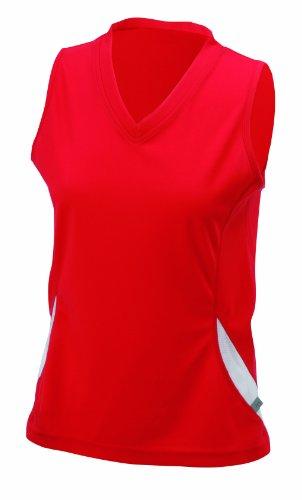 James & Nicholson -T-shirt  Donna Rosso (red/white)