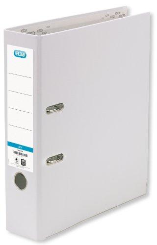 ELBA Ordner smart Pro 10er Pack 8 cm breit DIN A4 weiß mit Einsteckrückenschild