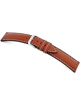 RIOS1931 Uhrenarmband Echt Bueffel Cognac Bandanstoss 18 mm