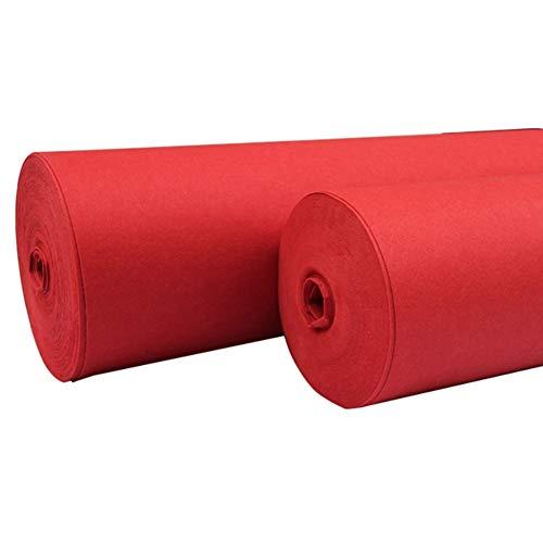 QiangDa Teppich Hochzeit Hochzeits-Gangläufer Roter Teppich Nicht Gewebt Brautbodenläufer Hochzeitsdekoration, Haufen 1mm / 1,5mm / 2mm Optionen (Farbe : Pile 1.5mm, größe : 2m x 20m) - Gang Rot Läufer Hochzeit