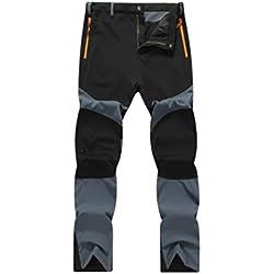 Amlaiworld Pantalones de Deporte de hombres pantalones jogger casuales Pantalones de hombre Impermeable Excursionismo Alpinismo Deportes Calentar Invierno Grueso Pantalones tácticos para hombre (Gris, 3XL)