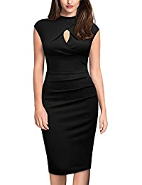 Miusol Vintage Slim Fit Coctel Vestido de Lápiz para Mujer
