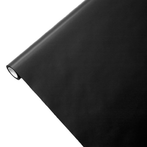 Junopax - Rollo de mantel de papel, color negro, papel, negro, 50...