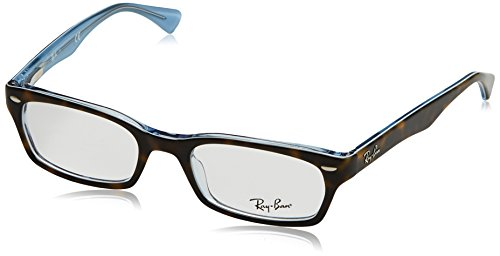 Ray Ban Optical Montures de lunettes RX5150 Pour Femme Brown On Tortoise, 48mm TOP HAVANA ON TR AZURE
