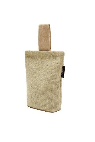 McAlister Textiles Herringbone Fermaporta | Home Decor Borsa Tessuto Pavimento per Porte e Finestre in Lana | Verde Salvia