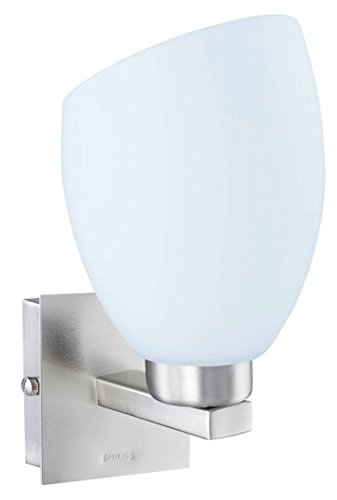 Philips 30978 Brushed Nickel Wall Light (White and Metal and Glass)