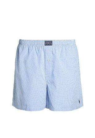 Polo Ralph Lauren Classic, Boxer de Bain Homme, Blau (Light Blue Mini Gingham 005), Small