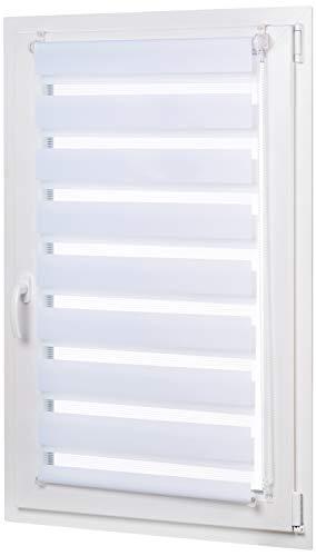 AmazonBasics - Estor enrollable de doble capa, 66 x 150 cm, Blanco