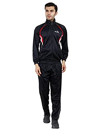 DEVOK Stylish Premium Quality Track Suit for Men/Boy. Black