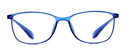 Z-ZOOM Lesebrille Style 07254 Blau +2.5 Damen Herren Unisex Lesebrillen Augenoptik Flexibel Lesehilfe Sehhilfe Leser Brille Zoom, 2.5