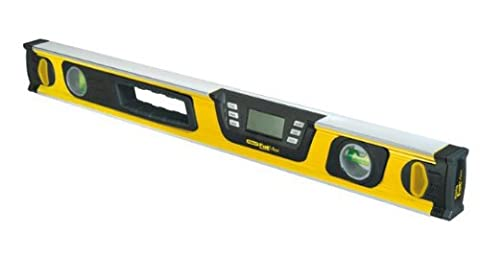 Stanley FatMax digitale Wasserwaage, Neigungsmesser, 60cm Länge Messbereich 0-360° Messung in Grad;Prozent;mm/m 0-42-065