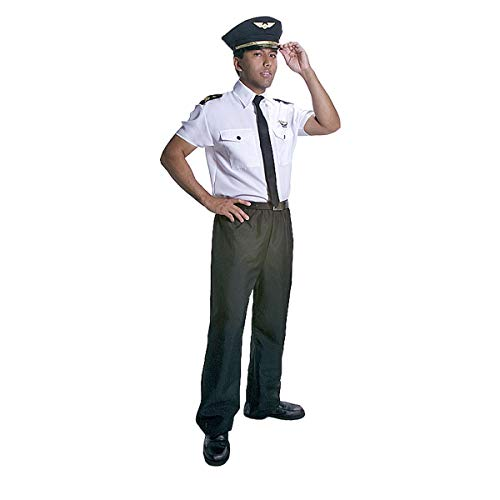Dress Up America 331-S Deluxe Adult Pilot Kostüm mens Klein (Taille 36-39 Zoll, Höhe 5'3