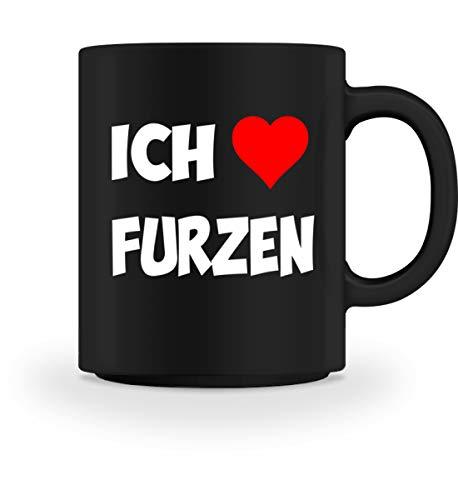 PlimPlom Ich Liebe Furzen Kaffeetasse Spaßgeschenk Tasse Für Kaffee Tee Kakao - Geschenk dee -...
