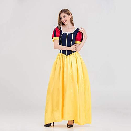 nn kostüm Damen Halloween/Weihnachtskugel Snow White Rock Kostüm Kostüm Erwachsene Weihnachtsfeier Cosplay Kostüm ()