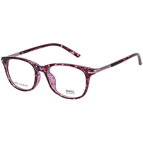 SHINU Telaio Eyewear Ottico Anti Light Blue Occhiali Lenti Trasparenti con Cerniera a Molla Occhiali da Vista per le Donne-SH017