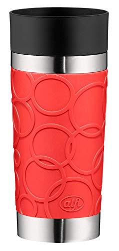 alfi isoMug Plus Soft Isolier-Trinkbecher, Edelstahl, Feuerrot, 0,35 Liter