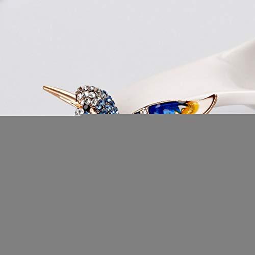 ERDING Brosche/Schöne Strass Bunte Vogel Brosche Tier Broschen für Hochzeit n Dekoration Wilde Tier Mode Goldschmuck