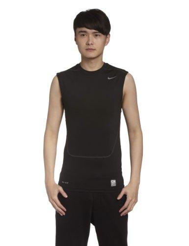 Nike Herren Kompressions Shirt Core Compression SL 2 Kompressionsshirt, Black/Cool Grey, M -
