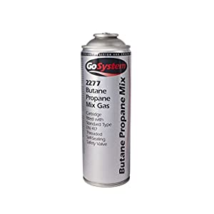 31Va Ai532L. SS300  - Gosystems Butane Propane 277G Mixed Gas Cartridge - Silver