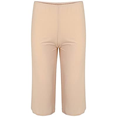 Ladies Famous Make Culotte Slip. Beige. Sizes 6 to 24