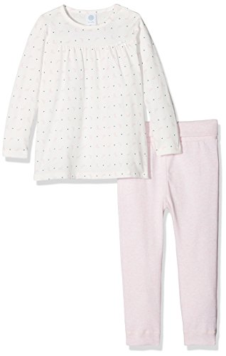 Sanetta Baby - Mädchen Zweiteiliger Schlafanzug 221369, Gr. 98, Beige (Broken White 1427)