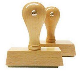 20x60mm - Individueller Holzstempel: Stempel selbst online gestalten - geosmile Marken Stempel (Textstempel / Logostempel / Motivstempel / Firmenstempel / Adressstempel) (20x60 mm)