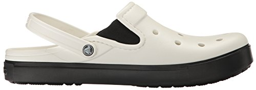 Crocs Citilane Clog Whi/Blk, Sabots Mixte Adulte Blanc (White/Black)
