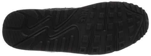 Nike  Air Max 90 Leat, Chaussures de course pour homme 42.5 Black (Black/Black/Black/Sea Glass 001)